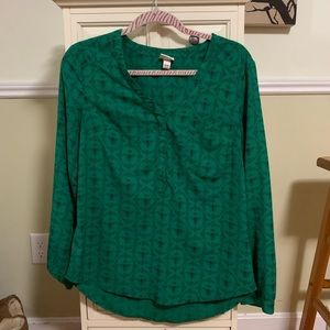 Green bee blouse